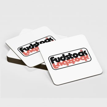 Fudstock 21 – White Coaster
